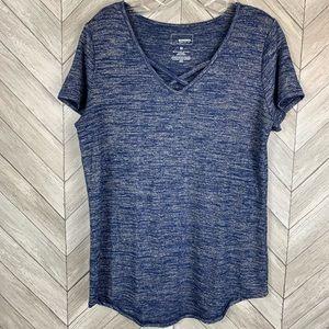 Blue cross cross T-shirt